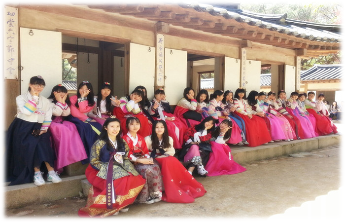 Hanbok photos with friends